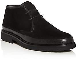Ermenegildo Zegna Men's Trivero Suede & Leather Ankle Boots