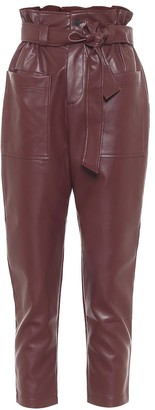 Frankie Shop Exclusive to Mytheresa Kate faux leather paperbag pants
