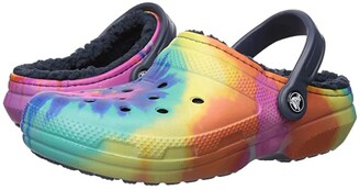 Crocs Classic Lined Tie-Dye Clog (Multi/Navy) Shoes