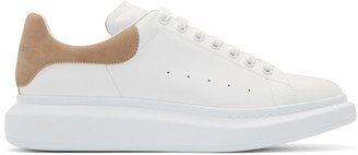 Alexander McQueen White and Beige Oversized Sneakers