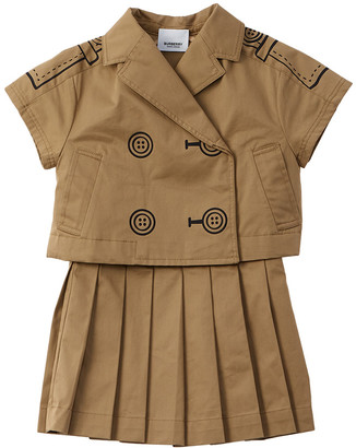 Burberry Trompe L'oeil Trench Dress