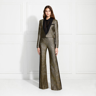 Rachel Zoe Dion Metallic Stripe Suiting Trousers