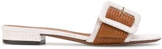 L'Autre Chose Animal-Print Embossed Sandals
