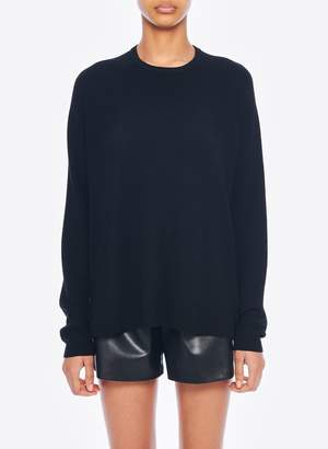 Tibi Woven Mixed Oversized Sweater