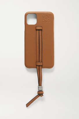 Loewe Leather Iphone 11 Case - Tan