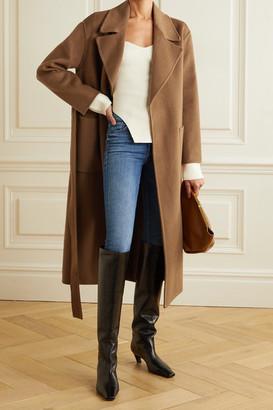 MICHAEL Michael Kors Belted Wool-blend Felt Coat - Light brown