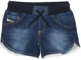 Diesel Denim Effect Cotton Shorts