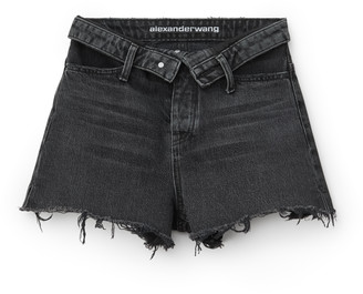 Denim bite flip shorts