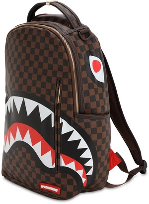 Sprayground Shark In Paris Faux Leather Backpack