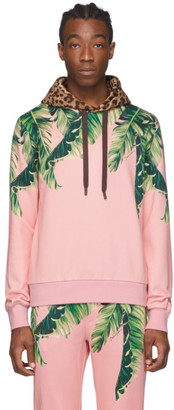 Dolce & Gabbana Pink Floral and Leopard Hoodie