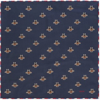 Gucci Bees print silk pocket square
