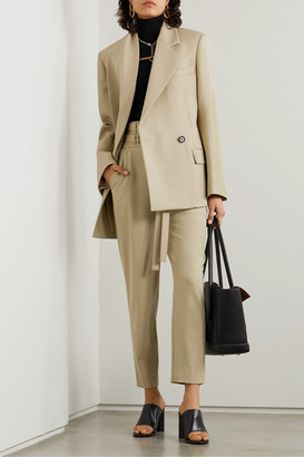 Proenza Schouler Draped Wool-blend Blazer - Beige