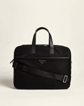 Prada Black Laptop Nylon Briefcase
