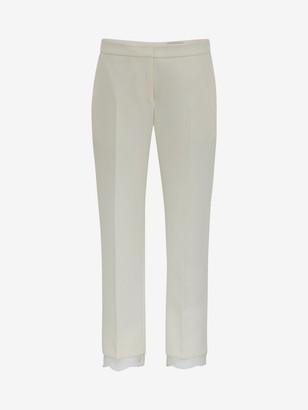 Alexander McQueen Light Wool Silk Lace Pants