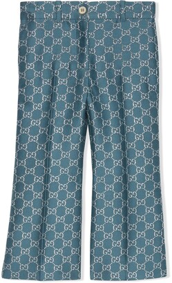 Gucci Kids GG lame-effect trousers