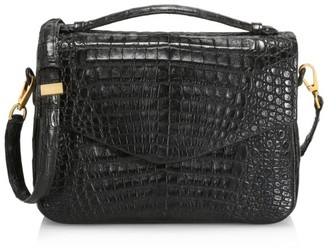 Nancy Gonzalez Large Lucy Python & Crocodile Crossbody Bag