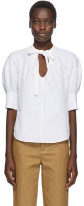 Chloé White Puff Sleeve Blouse
