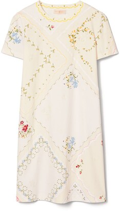 Tory Burch Handkerchief Printed T-Shirt Dress