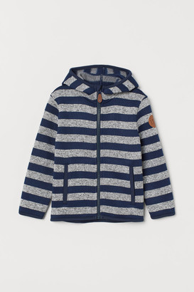 H&M Knit Fleece Jacket - Blue