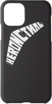 Heron Preston Black and White Logo iPhone 11 Pro Case