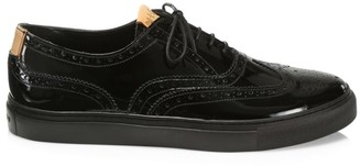 Grenson Patent Leather Wingtip Brogue Sneakers