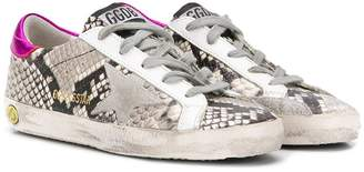 Golden Goose Kids distressed snakeskin sneakers