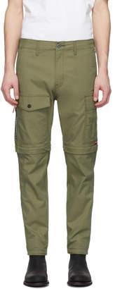 Levi's Levis Green Lo-Ball Zip-Off Cargo Pants