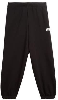 Balenciaga Kids - Unisex Cotton-blend Track Pants - Womens - Black