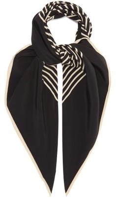 Totême Venezia Logo-print Silk Scarf - Black