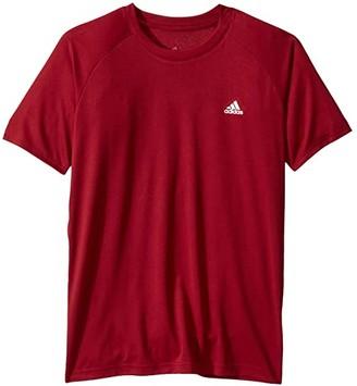 adidas Kids Kids Club Tee (Little Kids/Big Kids) (Collegiate Burgundy) Boy's Short Sleeve Pullover