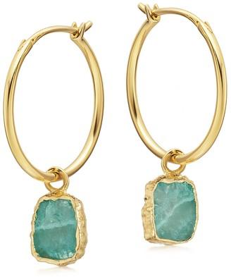 Missoma Amazonite medium charm hoop earrings