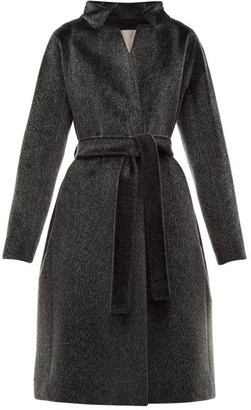 Herno Stand Collar Faux-fur Coat - Womens - Black