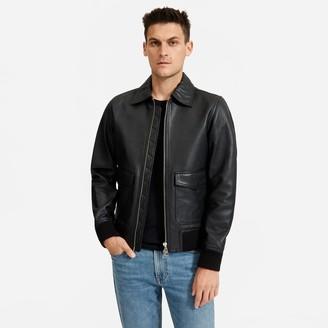 Everlane The Leather Bomber Jacket