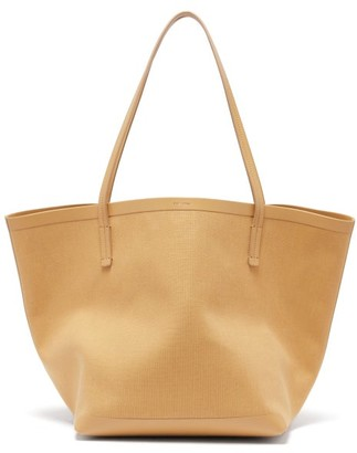 The Row Park Canvas And Leather Tote Bag - Nude