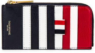 Thom Browne Half Zip Around Wallet in Multi | FWRD