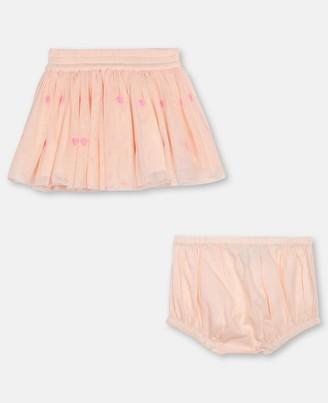 Stella Mccartney Kids Hearts Embroidery Tulle Skirt, Unisex