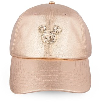 Disney Mickey Mouse Rose Gold Baseball Cap for Women