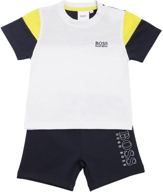 HUGO BOSS Cotton Jersey T-Shirt & Acetate Shorts