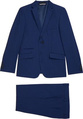 Andrew Marc Plaid Skinny Fit Suit