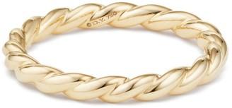 David Yurman Paveflex 18K Yellow Gold Petite Ring
