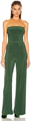 Norma Kamali Strapless Jumpsuit in Forest Green | FWRD