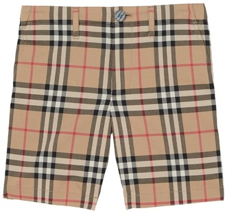 Burberry Check Cotton Shorts