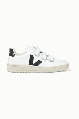Veja Net Sustain V-lock Leather Sneakers - White