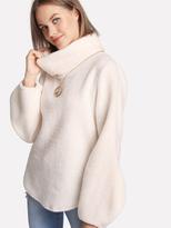 shein-balloon-sleeve-plush-pullover