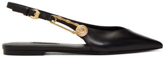 Versace Black Medusa Safety Pin Loafers