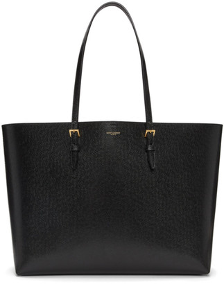 Saint Laurent Black East/West Shopping Tote