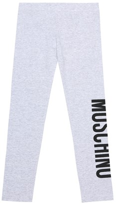 MOSCHINO BAMBINO Stretch-cotton leggings