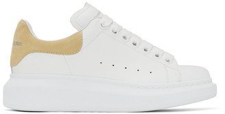 Alexander McQueen SSENSE Exclusive White and Yellow Oversized Sneakers