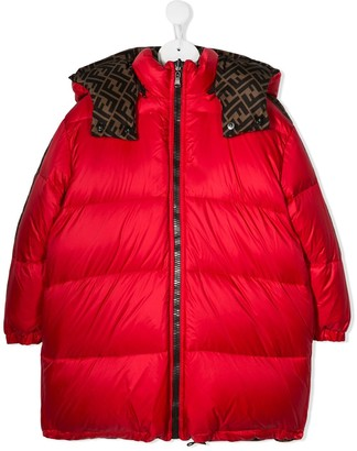 Fendi Kids Reversible Padded Coat