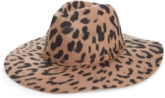 BP Leopard Print Wool Panama Hat